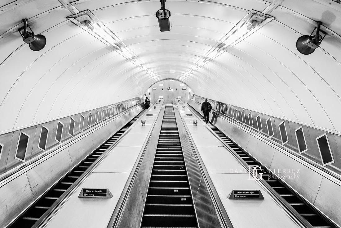 London photographer waterloo tube station ii london uk
