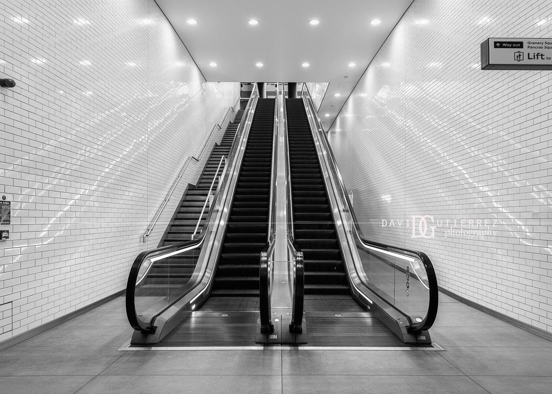 Escalation ii kings cross st pancras station london uk