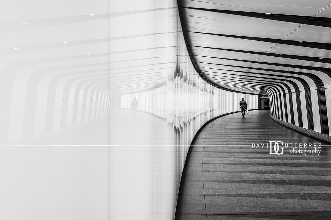 London photographer stripes kings cross st pancras station london uk
