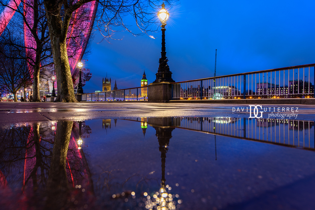 Southbank Puddle London UK